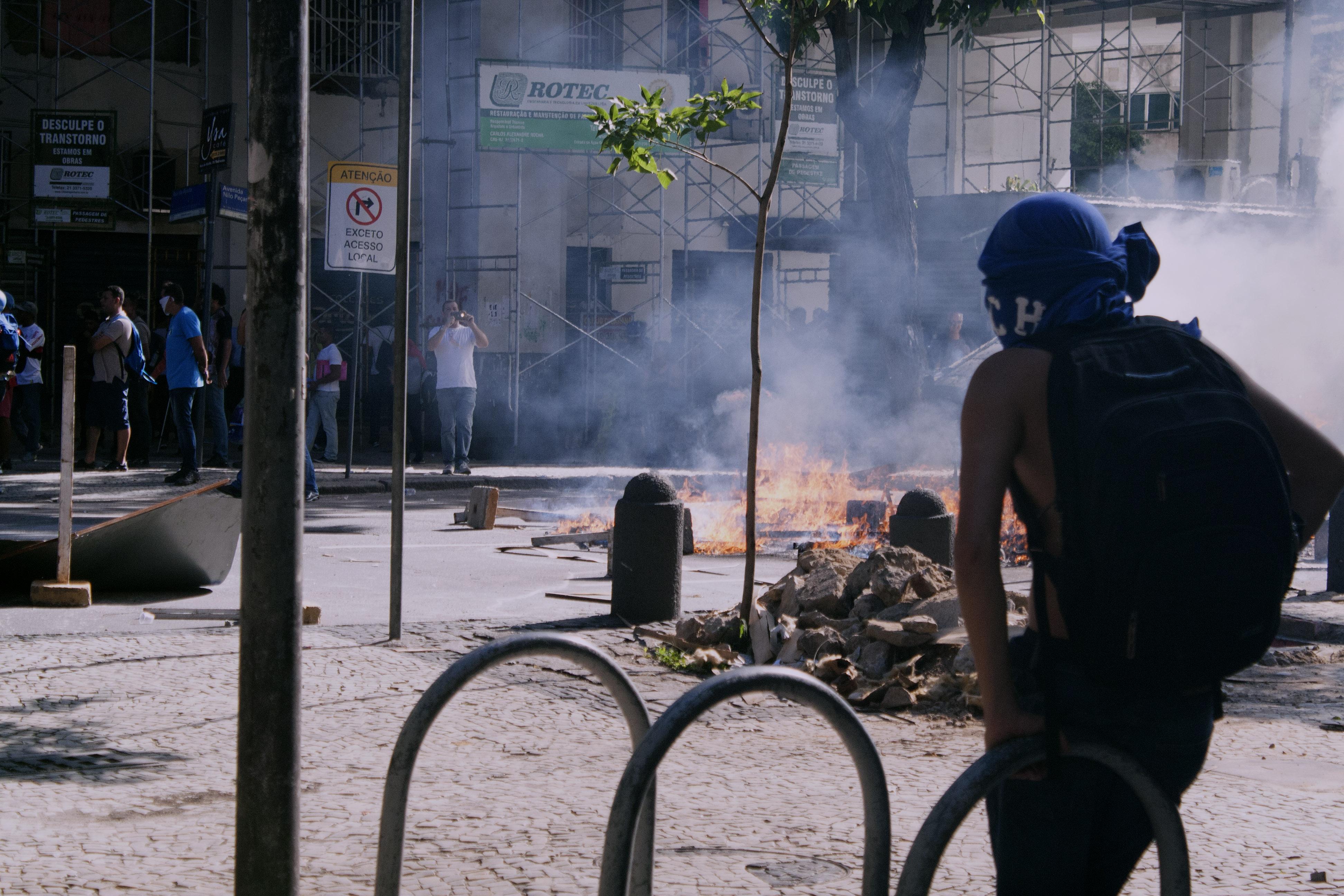 Servidores protestam contra medidas de austeridade do governo do estado do Rio de Janeiro.