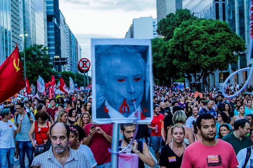 Ato contra a reforma da previdência no Rio de Janeiro