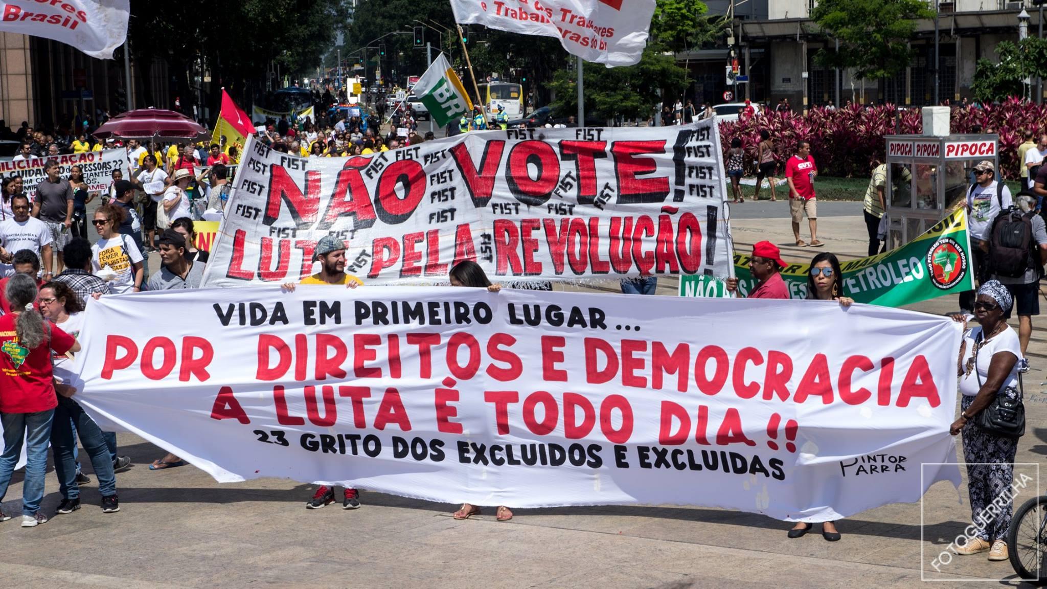 O Grito dos Excluídos, no Rio de Janeiro