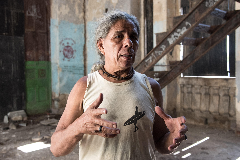 José Urutau Guajajara, ocupante da Aldeia Maraka´nà