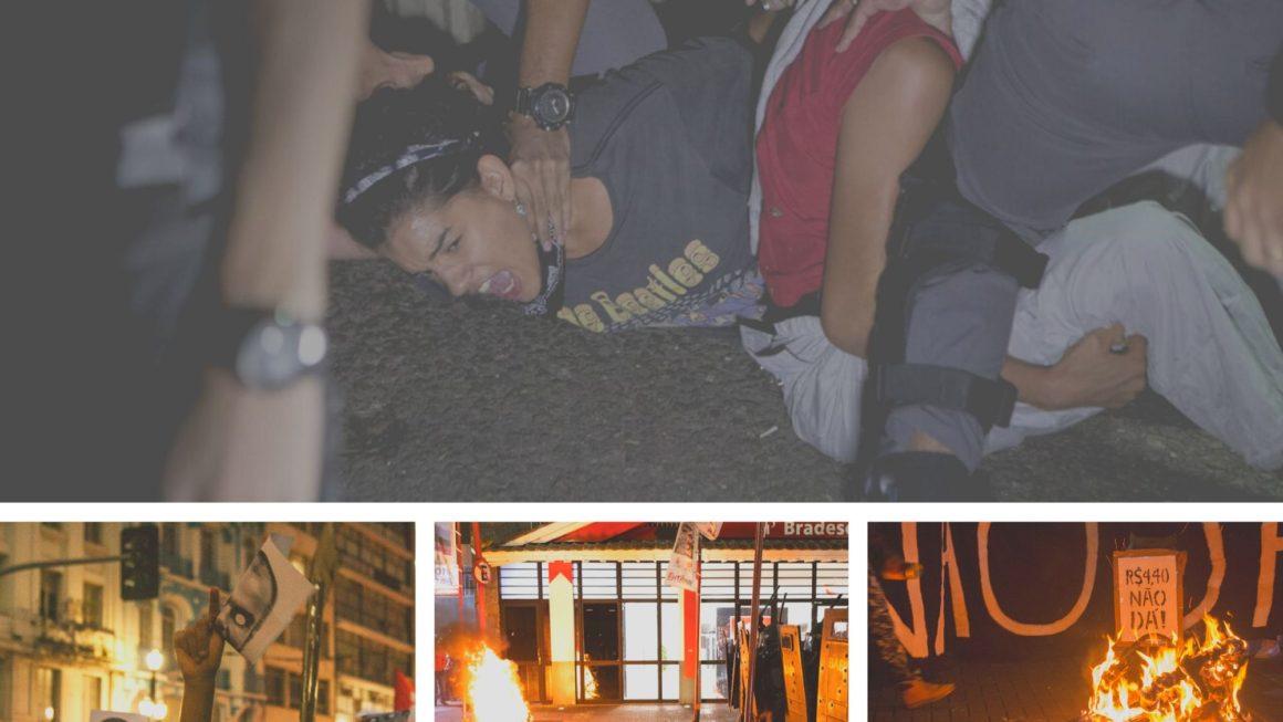 SÃO PAULO: 4º ATO CONTRA A TARIFA TERMINA EM REPRESSÃO