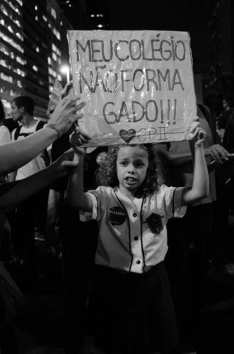 Greve pela educação, 15 de maio, no Rio de Janeiro. Foto: Vitor Pastana/Fotoguerrilha