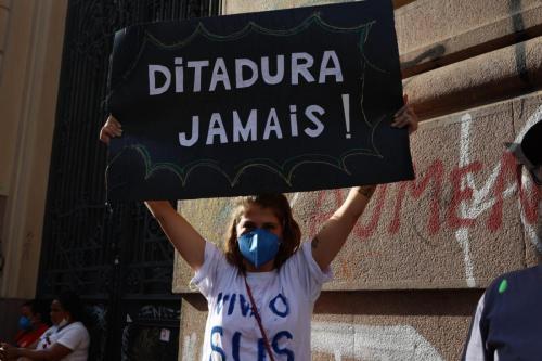 Ato Contra Bolsonaro em São Paulo. Foto: Isabela Naiara