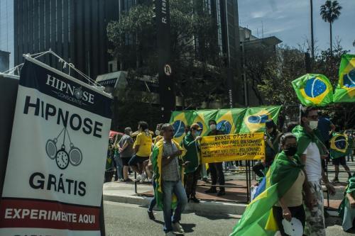 Ato antidemocrático em São Paulo. Kauê Pallone/Fotoguerrilha