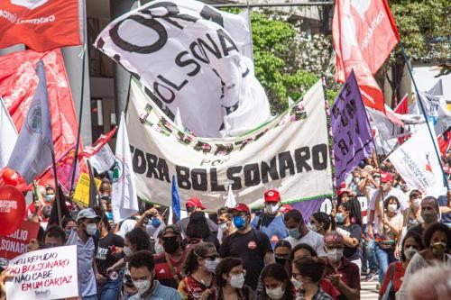 """Ato """"Grito dos Excluídos"""", contra Bolsonaro no Rio de Janeiro. Foto: Wagner Maia"""