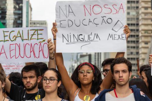 Greve pela educação, 15 de maio, em São Paulo.. Foto: Patrícia Borges/Fotoguerrilha
