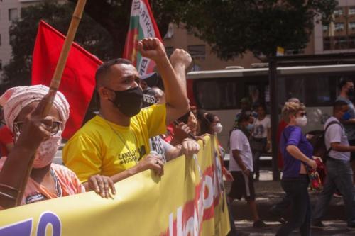 "Ato ""Grito dos Excluídos"", contra Bolsonaro no Rio de Janeiro. Foto: Vinícius Ribeiro"