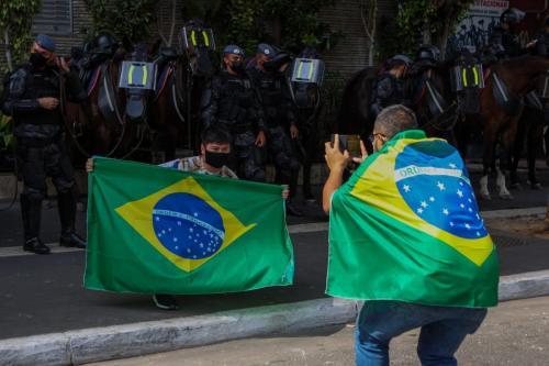 Ato antidemocrático em São Paulo. Foto:Isabela Naiara/Fotoguerrilha