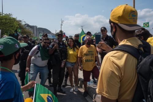 Ato antidemocrático No Rio de Janeiro. Foto: bárbara Dias/Fotoguerrilha.