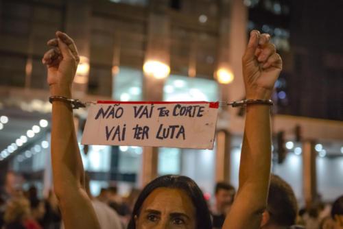 Greve pela educação, 15 de maio, no Rio de Janeiro. Foto: Rodrigo Campanário/Fotoguerrilha